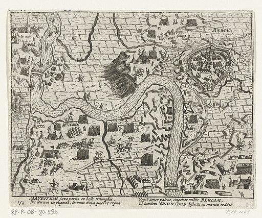 Beleg en inname van Rheinberg door Maurits, 1601, RP-P-OB-80.592