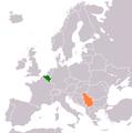 Belgium Serbia Locator.png