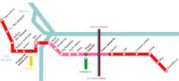 схема лёгкого метро по проекту 2004 года.