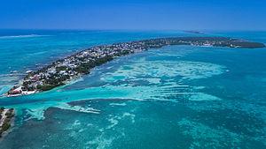 Caye Caulker - Aerial view of Caye Caulker