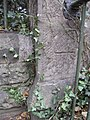 Bench mark on Overleigh Cemetery stone post - geograph.org.uk - 1535611.jpg