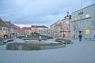 Benešov - Image: Benešov náměstí3