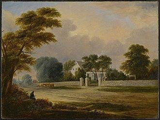 Hans Hansen Bergen - The Bergen Homestead, Brooklyn, ca. 1830s. Home of one branch of descendants of Hans Hansen Bergen.