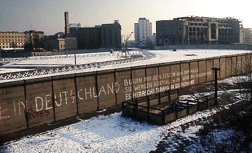 Berlin Wall Potsdamer Platz November 1975 looking east crop