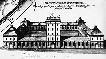 First Berlin observatory on the stables in Dorotheenstadt, view from the north