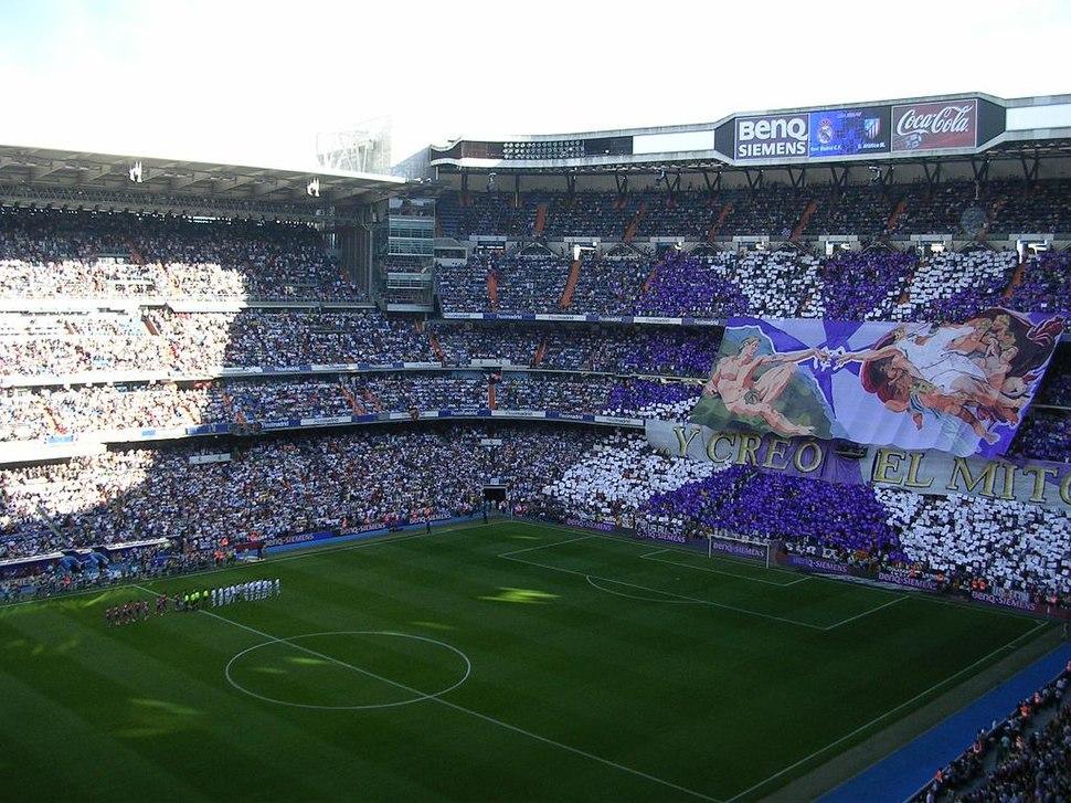 Bernabeu en un Madrid-Atleti