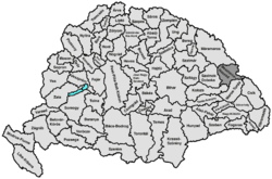 Location of Beszterce-Naszód