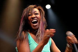 Beverley Knight - Knight performing in 2005