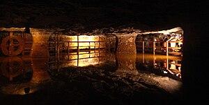 Sink works - Sinkworks in the Bex salt mine, Switzerland
