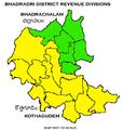 Bhadradri District Revenue divisions map.png