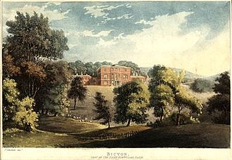 Bicton House, Devon - John Gendall, Bicton, seat of the Right Honorable Lord Rolle, c. 1820, engraving.