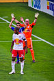 Bill Gaudette and Thiery Henry defend the NY goal Montreal Impact vs NY Red Bulls.jpg