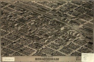 Panoramic map of Birmingham's business section in 1903 Birmingham Alabama map 1903.jpg