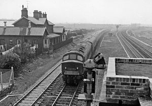 Birtley, Tyne and Wear - Remains of Birtley Station in 1965