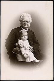 Bjørnstjerne Bjørnson og barnebarnet Bjørnstjerne Albert Bjørnson-Langen, 1900