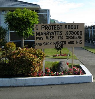 Tony Marryatt - Protest sign about Marryatt's 2011 pay rise