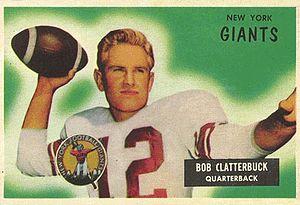 Bobby Clatterbuck - Clatterbuck on a 1955 Bowman football card