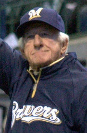 Bob Uecker - Uecker before throwing out a first pitch in 2011