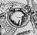 Bodleian Libraries, Agas map of Oxford, 1578 - detail of the Castle.jpg