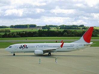 JAL Express - JAL Express Boeing 737-800 at Memanbetsu Airport