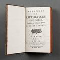 "Boken ""Melanges de litterature angloise,"" - Skoklosters slott - 86194.tif"