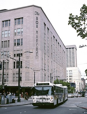 The Bon Marché - The Bon Marché's flagship store, in downtown Seattle, in 2000