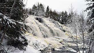 Bond Falls - Image: Bond Falls in January 2
