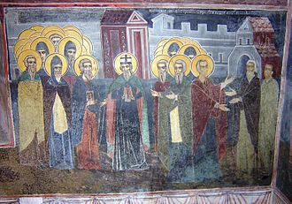 Boris I of Bulgaria - Tsar Boris I meeting the disciples of Saints Cyril and Methodius