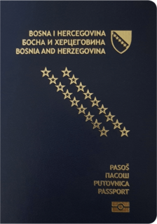 Visa requirements for Bosnia and Herzegovina citizens