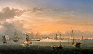 Boston Harbor by Fitz Hugh Lane, 1854