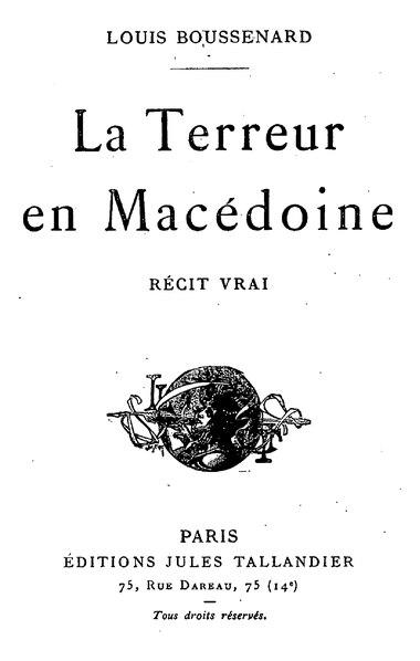 File:Boussenard - La Terreur en Macédoine, Tallandier, 1912.djvu