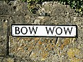 Bow Wow sign, South Cerney - geograph.org.uk - 1517968.jpg