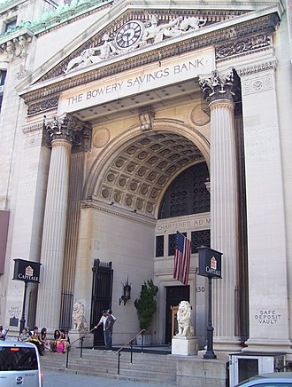 Bowery Savings Bank - Original headquarters, designed by Stanford White