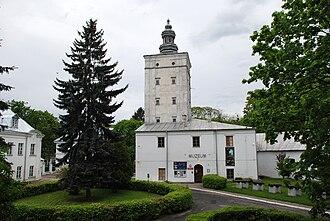 Biała Podlaska - Castle tower and the regional museum at the Radziwiłł park in Biała Podlaska (before renovation)