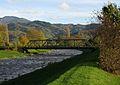 Brücke der Elztalbahn über die Elz bei Sexau, im Hintergrund der Kandel.jpg