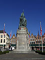 Brügge-Markt-Statue of Jan Breydel 57991.jpg