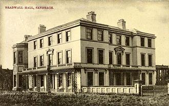 Latham of Bradwall - Bradwall Hall, Sandbach, demolished in 1960, seat of the Latham Family