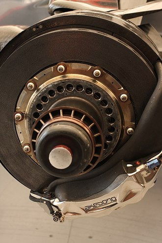 Akebono Brake Industry - A McLaren MP4-22 Formula 1 car brake manufactured by Akebono