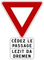 Breton yiels sign.png