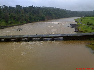 Ambika River - Old bridge on Ambika river near Waghai