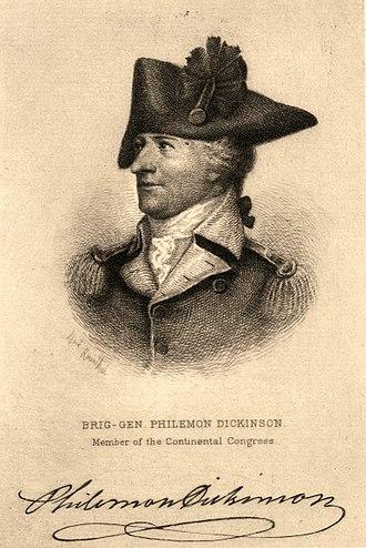Philemon Dickinson - Image: Brig. Gen. Philemon Dickinson, member of the Continental Congress (NYPL b 12349181 420040)