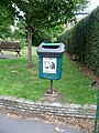 Bristol , Temple Gardens Dog Waste Bin - geograph.org.uk - 1360905.jpg