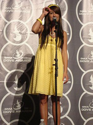Britt Nicole - Nicole at the Dove Awards of 2008.