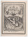 Broadsheet with image of a chained woman in purgatory and the Holy Trinity above MET DP867951.jpg