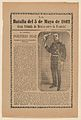 Broadside relating to a news story about the Mexican victory over the French army on May 5, 1862, General Porfirio Diaz in military regalia holding a hat MET DP868541.jpg