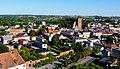 Brodnica, Polska . Widok miasta z wieży zamkowej. Widok - Gotycki kościół farny św. Katarzyny w Brodnicy powstał w latach 1310-70. - panoramio.jpg