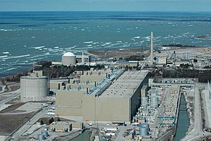 Energy policy of Canada - Bruce Nuclear Generating Station near Kincardine, Ontario