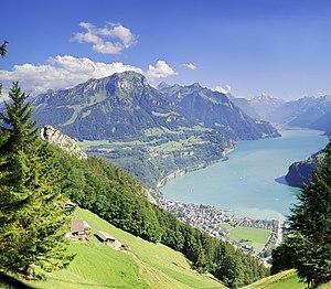 Brunnen - Brunnen and the Lake of Lucerne (2010).