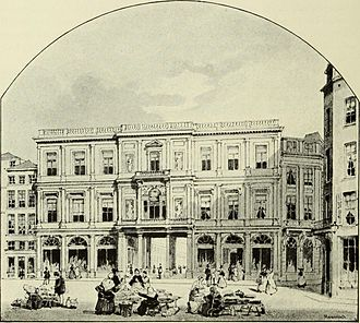 Galeries Royales Saint-Hubert - Nineteenth century view of the exterior of the galleries