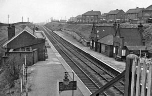 Bryn railway station - The station in 1962